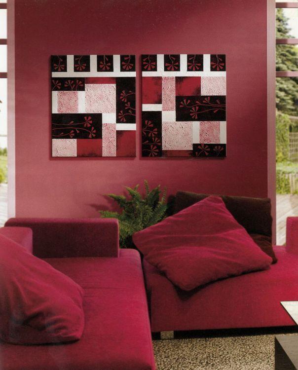 Decoratiuni interioare cu motive africane si asiatice - rosu si negru