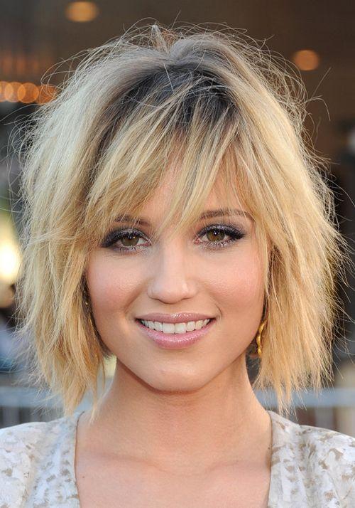 As 15 mais lindas franjas para quem tem rosto redondo! http://salaovirtual.org/franja-rosto-redondo/ #franja #franjaeformatoderosto #salaovirtual