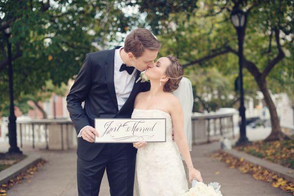 Just married! http://www.stylemepretty.com/maryland-weddings/baltimore/2015/05/27/black-tie-baltimore-library-wedding/   Photography: Audra Wrisley - http://audrawrisley.com/