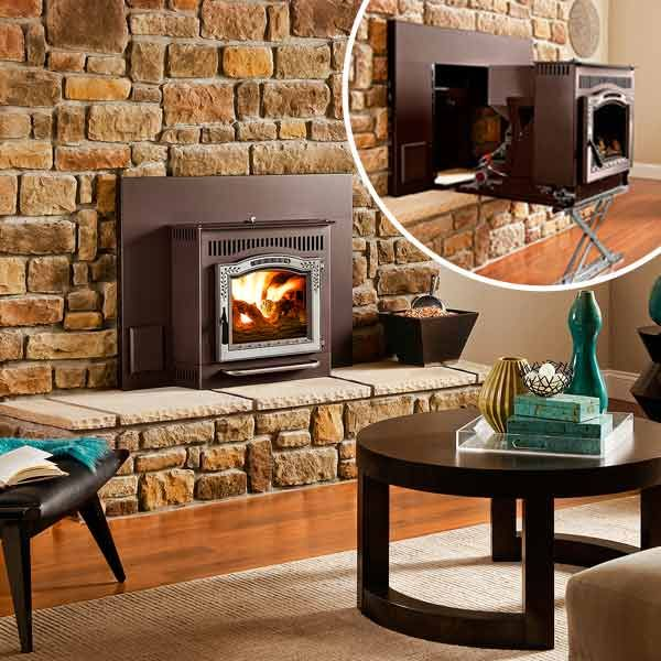 Turn your fireplace into a pellet stove - thisoldhouse.com | from All About Pellet Stoves