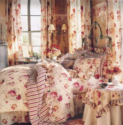 Waverly Norfolk Red Roses Floral Queen Fitted Sheet Bedding Fabric