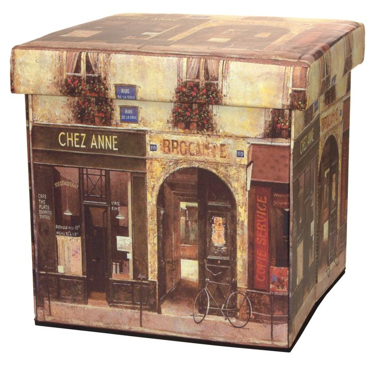 Oriental Furniture French Cafe Storage Bin - CAN-BOX-CAFE1-A