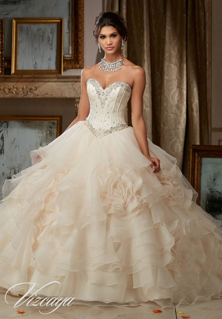 Vizcaya by Mori Lee is currently one of the most popular quinceanera dress designers. Their gorgeous dresses on the runway have been repeatedly melting our hearts and their newest collection of white dresses didn't disappoint - See more at: http://www.quinceanera.com/dresses/white-quinceanera-dresses/#sthash.qoNiwDEh.dpuf