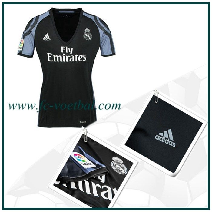 Bedrukking Real Madrid 3e Shirt Vrouwen Zwart Adidas 2016 2017