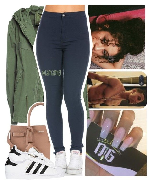 """shawty my baby, she my little boo."" by lamamig ❤ liked on Polyvore featuring Mr & Mrs Italy, Yves Saint Laurent and adidas Originals"