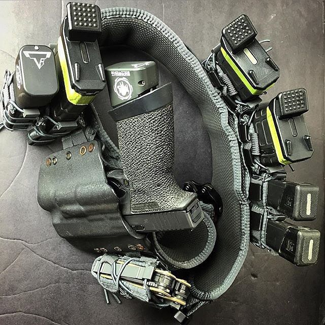 Highspeedgear slim grip battle belt in wolf grey