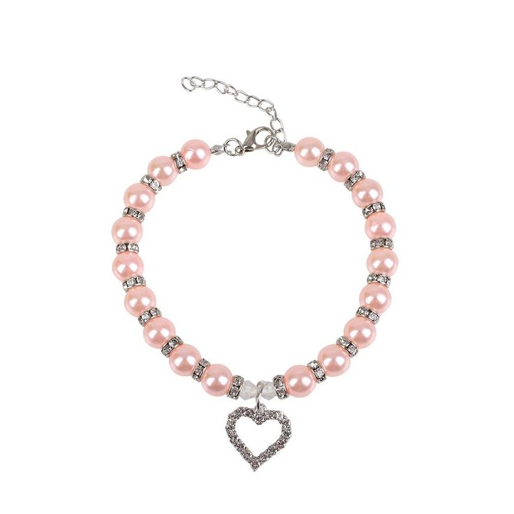 Cute Dog Collar - Pink Pearl Necklace For Dogs