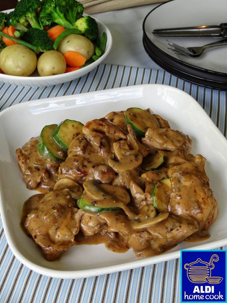 ALDI home cook: The perfect quick dinner recipe - Creamy chicken & mushrooms