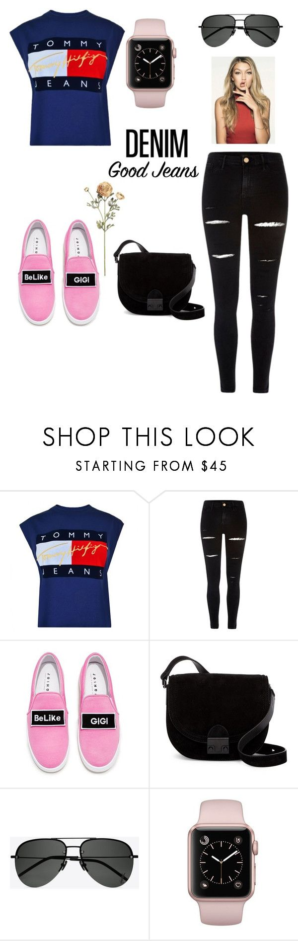 """Untitled #120"" by putrinaini on Polyvore featuring Tommy Hilfiger, River Island, Joshua's, Loeffler Randall and Yves Saint Laurent"