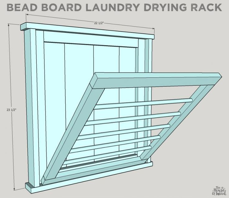 Ballard Designs-Inspired Laundry Drying Rack #diy #laundry #rack #ballarddesigns