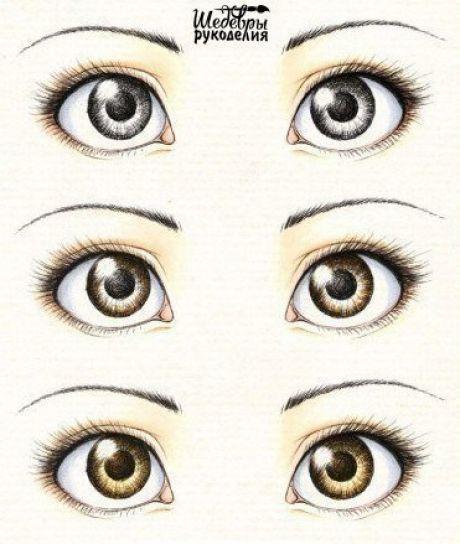 Учимся рисовать глаза / Рукоделие