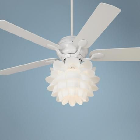 52 casa optima flower light kit white ceiling fan