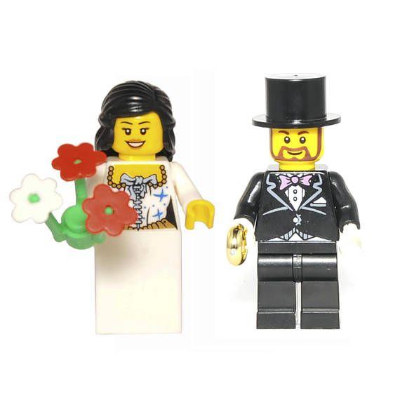 set Bride and Groom for Wedding Cake Custom Minifigure Comics