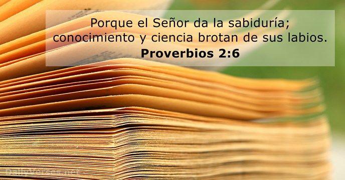 Proverbios 2:6 - dailyverses.net