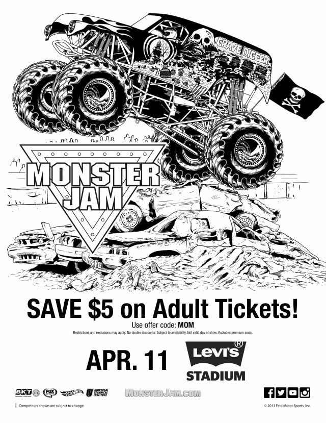 Grave Digger Coloring Page Luxury Monster Jam 2015 is Ing