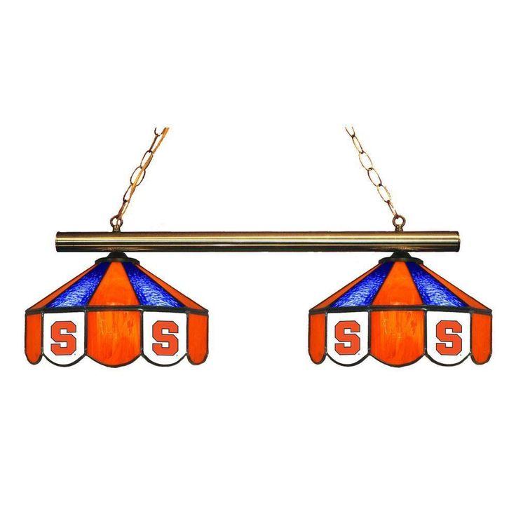 2 Pendant Syracuse Orange Chandelier w/ Tiffany Lampshades