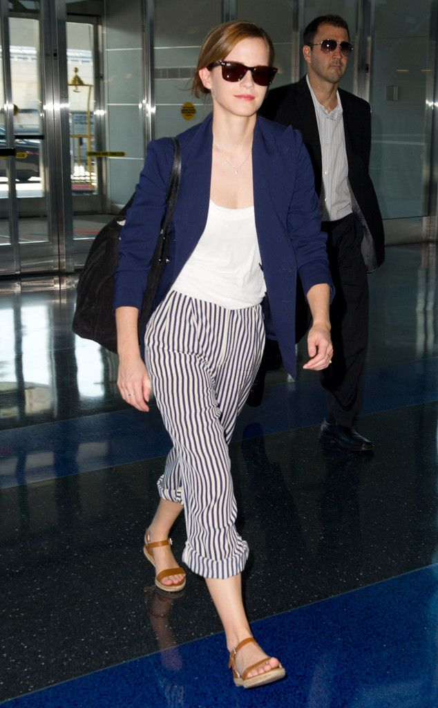 Emma Watson's Casual Airport Outfit