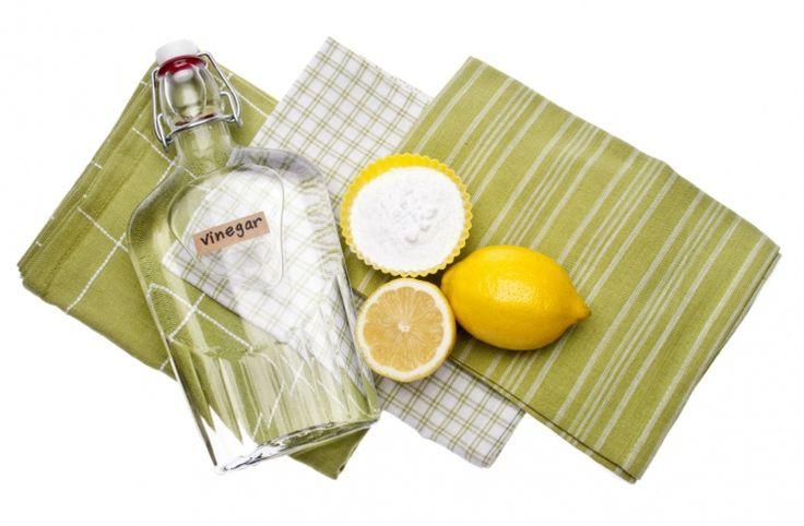 Základom ľudových čistiacich prostriedkov je ocot, jedlá sóda a citrónová šťava. Foto: ©Depositphotos.com/brookefuller