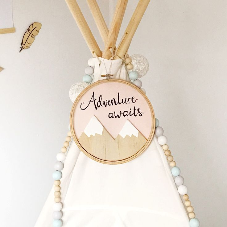 New wooden mountain wall hanging now available in the shop, in a stunning light pink colour!
