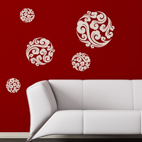 Asian Wall Decals | Oriental Clouds Wall Stickers