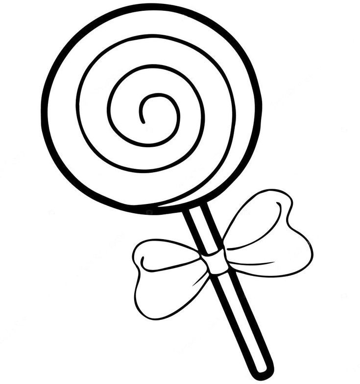 Two Lollipop Coloring Page Candy Coloring Pages Coloring Pages