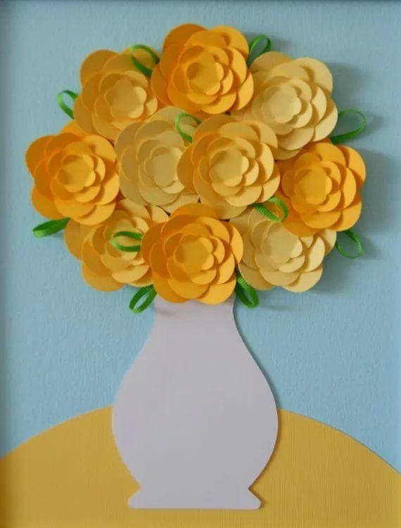 ваза с цветами поделки с детьми: 13 тыс изображений найдено в Яндекс.Картинках