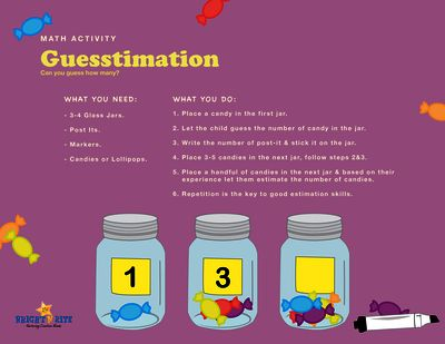 Guestimation from BrightNRite from BrightNRite on TeachersNotebook.com (1 page)  - This is an estimation jars activity, its an old tried and tested way to develop a sense of numbers and increases the child's ability to make reasonable guesses.