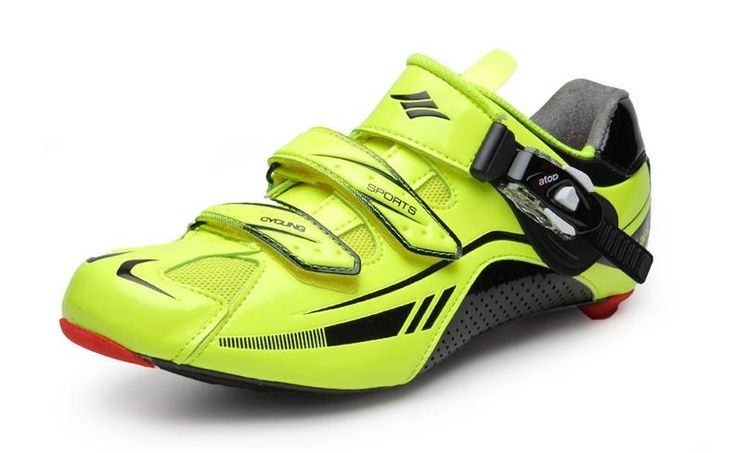 93.50$  Buy here - http://alihsy.worldwells.pw/go.php?t=32549608301 - Santci Professional Men Cycling Shoes Carbon Soles Road Bike Breathable Bicycle Self-Locking Shoes Zapatos Ciclismo 93.50$