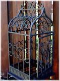 Fun fall antique bird cage