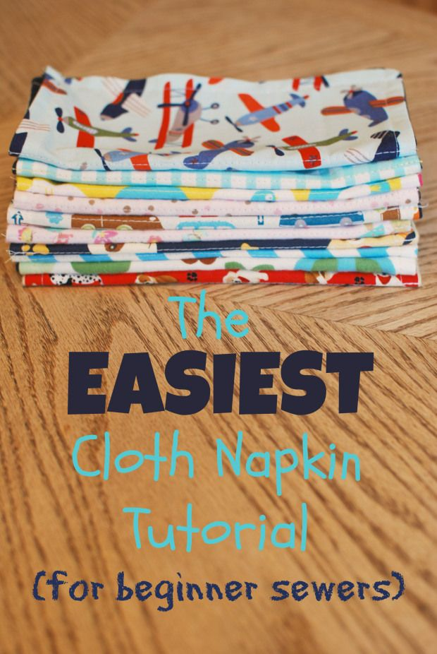 Cloth napkins reduce waste, save money, and are super cute! They just might be the easiest sewing project ever!