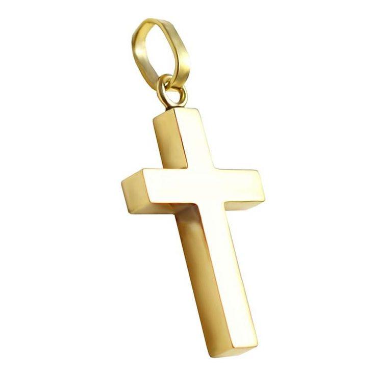 ΣΤ661Ζ- Χρυσός βαπτιστικός σταυρός