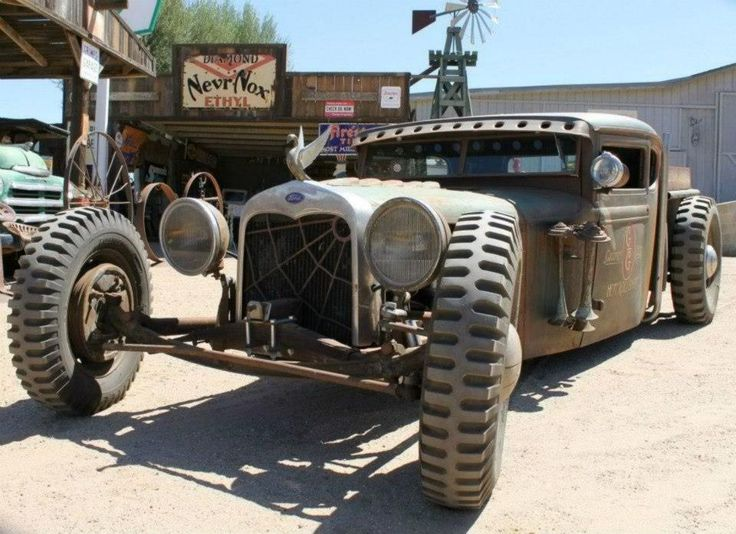 Rat Rod With Jeep Tires Hot Rods And Pin Ups