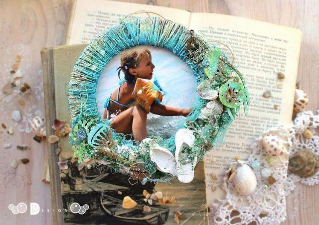 Elena Martynova: Декор круглой рамочки в морском стиле (мастер-класс) для Fluffy Duffy