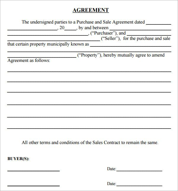 Simple Land Purchase Agreement Form Purchase Agreement