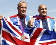Bronze medallists K2 Liam Heath and Jon Schofield