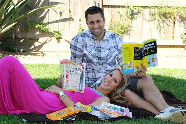 cutest pregnancy announcement ever! Love the books!