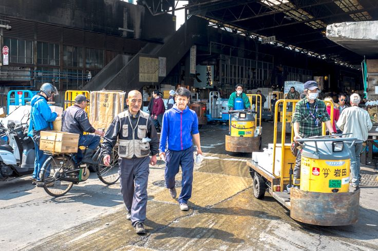 Tsukiji Fish Market  is the largest wholesale fish and seafood market in the world and handles over 600,000 tonnes of seafood in 480 varieties each year.