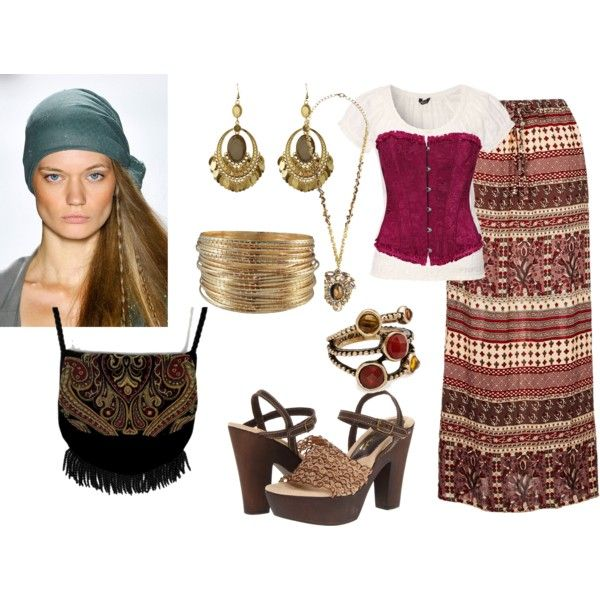 """DIY Gypsy Costume"" by reneeward400 on Polyvore"