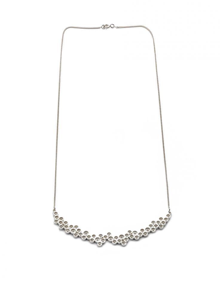 Liliana Guerreiro   Handmade silver necklace, using a filigree technique