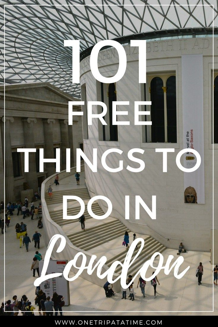 London doesn't have to be expensive. Read our list of 101 amazing things you can see, do and experience in the UK capital for FREE. Includes a FREE printable checklist ! || www.onetripatatime.com  #London #freethingstodoLondon #England #UK