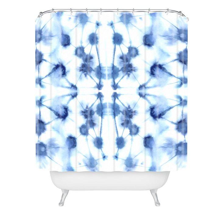 Jacqueline Maldonado Mirror Dye Blue Shower Curtain | DENY Designs Home Accessories