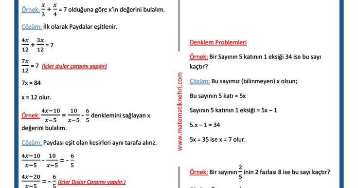 Denklemler ve Denklem sistemleri.pdf
