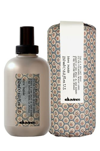 "Wilson says this will work best on girls with thick wavy hair. ""Use a sea salt spray to give your hair some extra gumption,"" he advises.  Davines This Is A Sea Salt Spray It's For Full-Bodied, Beachy Looks, $27, Davines for salons."
