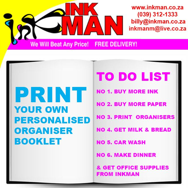 #Learn how to #print a Personalised #Organiser #Booklet here! #INKman #Margate #SouthAfrica http://bit.ly/1NnyVSJ