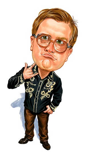 Mike Smith as Bubbles ...artwork by www.ExaggerArt.com