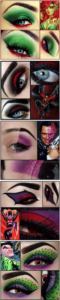 Comic Book Character Eye Makeup, where has this been all my life???!