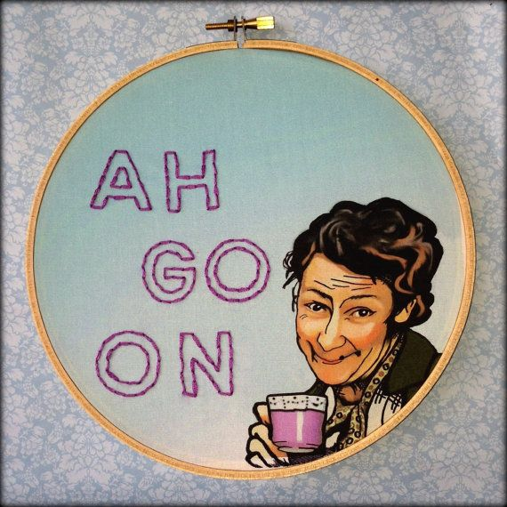 Mrs Doyle Father Ted Ah Go On  Handmade by FawnandSquirrel on Etsy, $20.00