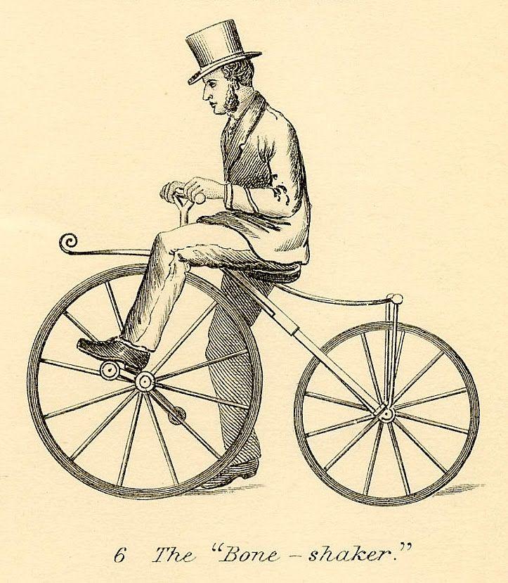 vintage bicycle clipart