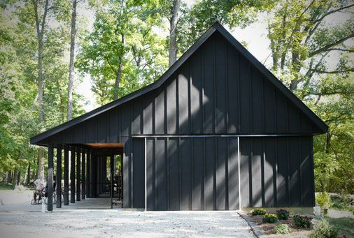 County Line Barn. Great concept for shed/pole barn/ backyard shade lounge