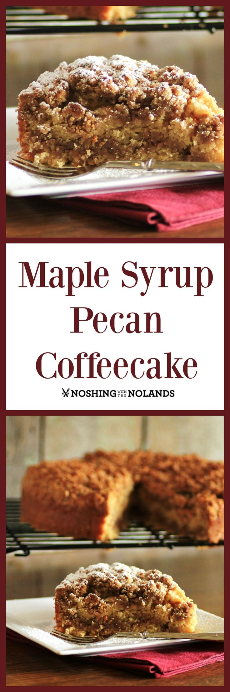 Maple Syrup Pecan Coffeecake by Noshing With The Nolands is a gorgeous cake for fall and winter, pure comfort food.